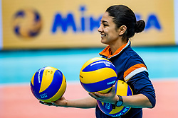 18-10-2018 JPN: World Championship Volleyball Women day 19, Yokohama<br /> Training day Netherlands in Yokohama Arena / Nicole Rodriguez of Netherlands