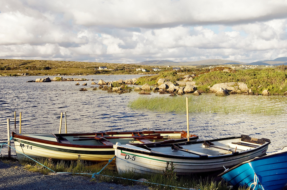 Fishing boats on Lough Meela between Dunglow and Burtonport in west Donegal, Ireland.