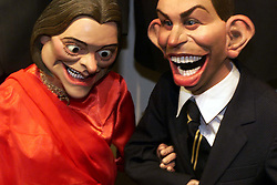 Sothebys to sell cast of satirical TV show Spitting Image. Photo shows Mr & Mrs Blair, July 7, 2000. Photo by Andrew Parsons / i-images...spain out