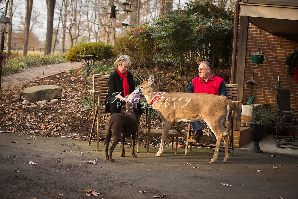 December 01, 2014.  <br /> Carlyle and Cathy Weaver, Choco and Baby.