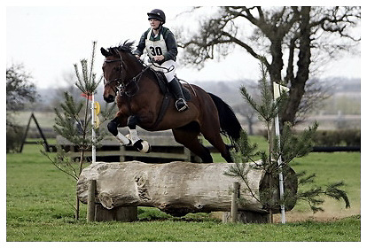 Buckingham Riding Club Eventer Trials at Milton Keynes Riding Club..5-4-2009. Bora