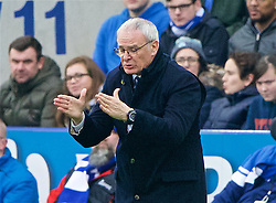 LEICESTER, ENGLAND - Saturday, February 27, 2016: Leicester City's manager Claudio Ranieri during the Premier League match against Norwich City at Filbert Way. (Pic by David Rawcliffe/Propaganda)