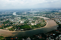 A view over the Saigon River in southern Vietnam.