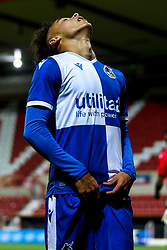 Kinsly Murray of Bristol Rovers cuts a frustrated figure - Mandatory by-line: Robbie Stephenson/JMP - 29/10/2019 - FOOTBALL - County Ground - Swindon, England - Swindon Town v Bristol Rovers - FA Youth Cup Round One