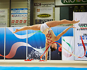 Greta Merlo from Virtus Gallarate team during the Italian Rhythmic Gymnastics Championship in Padova, 25 November 2017.