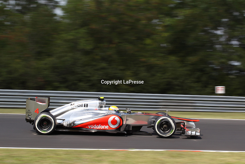 &copy; Photo4 / LaPresse<br /> 28/7/2012 Budapest<br /> Sport <br /> Hungarian Grand Prix, Hungaroring 26-29 July 2012<br /> In the pic: Lewis Hamilton (GBR), McLaren  Mercedes, MP4-27