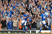 Photo: Ashley Pickering.<br /> Ipswich Town v Cardiff City. Coca Cola Championship. 06/05/2007.<br /> Jon Waters celebrates his second goal and Ipswich's third of the afternoon