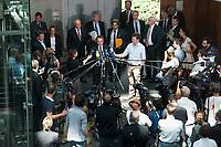 17 JUL 2013, BERLIN/GERMANY:<br /> Hans-Peter Friedrich, MdB, FDP, Bundesinnenminister, gibt ein Statemnt, nach einerSondersitzung Innenausschuss Deutscher Bundestag zum NSA Abhoerprogramm PRISM und die Reise des Innenministers in die USA in dieser Sache, Paul-Loebe-Haus<br /> IMAGE: 20130717-02-064<br /> KEYWORDS: Abhöraffäre, Affaere,Abhoerskandal, Abhörskandal, Mikrofon, microphone, Journalisten, Medien