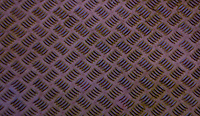A steel flooring texture pattern at Werdhölzli Sewage Treatment Plant, Zürich, Switzerland.