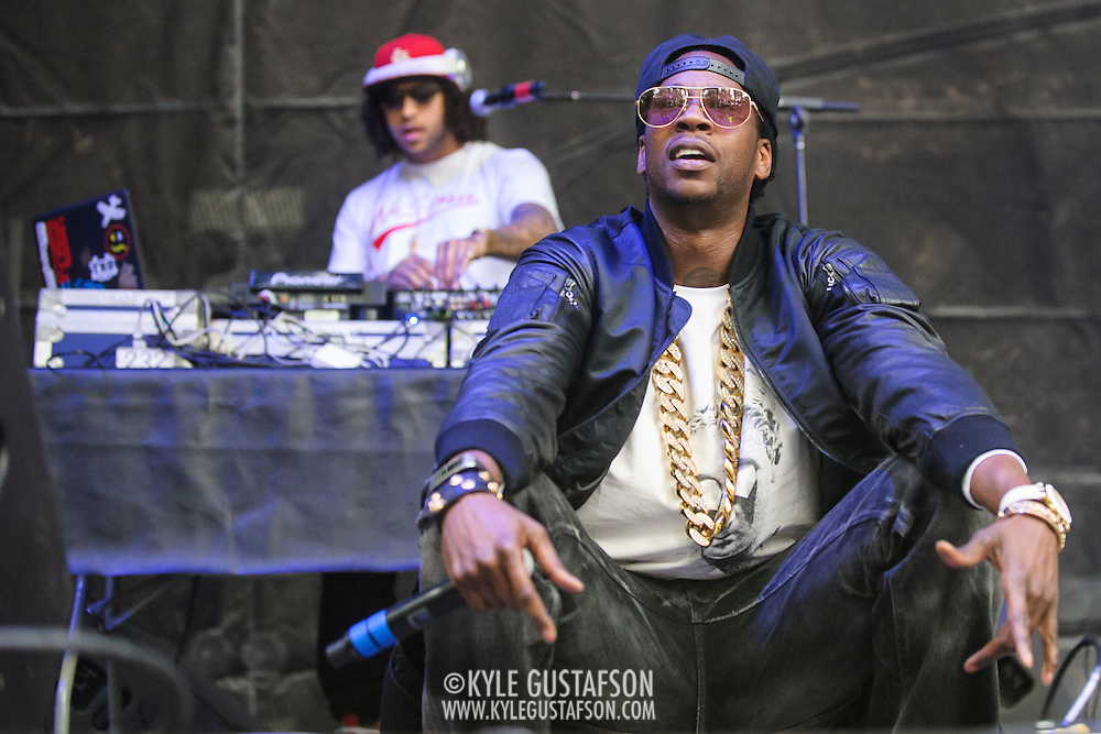 COLUMBIA, MD - May 10th, 2014 - 2 Chainz performs at the 2014 Sweetlife Festival at Merriweather Post Pavilion in Columbia, MD. His 2013 album, Based on a TRU Story, was nominated for a Grammy for Best Rap Album. (Photo by Kyle Gustafson / For The Washington Post)