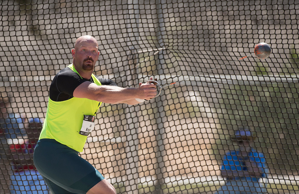 The 2014 USA Track and Field  Championships in Sacramento:  The men's hammer throw finals-  AG Kruger