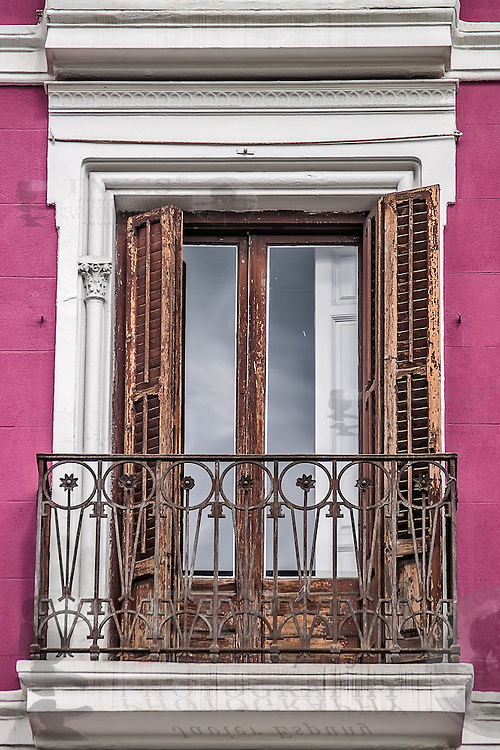 Madrid, May 2012. Traditional balcony on downtown.
