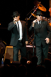 """Zee and Elwood Blues (James """"Jim"""" Adam Belushi and Dan Aykroyd) performed with the Blues Brothers Band.  The Pepsi Bottling Company of Central Virginia held their 100th Anniversary celebration at the John Paul Jones Arena on The Grounds of the University of Virginia in Charlottesville, VA on June 7, 2008.  After a 1,000 person dinner, held in the arena, the Blues Brothers performed."""