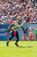 06 October 2013: Safety (25) Rafael Bush of the New Orleans Saints in game action against the Chicago Bears during the first half of the Saints 26-18 victory over the Bears in an NFL Game at Soldier Field in Chicago, IL.