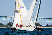 Wild Horses sailing in the Newport Classic Yacht Regatta.