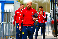 Scott Cuthbert of Stevenage arrives at the One Call Stadium, home to Mansfield Town - Mandatory by-line: Ryan Crockett/JMP - 27/04/2019 - FOOTBALL - One Call Stadium - Mansfield, England - Mansfield Town v Stevenage - Sky Bet League Two