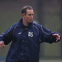 St Johnstone training 07.12.01<br />Boss Billy Stark talks tactics with his team during training before tomoroow's game v Dundee<br />see story by Gordon Bannerman Tel:01738 553978<br /><br />Picture by Graeme Hart.<br />Copyright Perthshire Picture Agency<br />Tel: 01738 623350  Mobile: 07990 594431