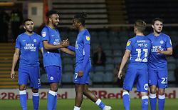 Ivan Toney of Peterborough United celebrates his goal with Rhys Bennett - Mandatory by-line: Joe Dent/JMP - 13/11/2018 - FOOTBALL - ABAX Stadium - Peterborough, England - Peterborough United v Luton Town - Checkatrade Trophy