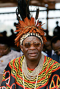 Local chief at cultural festival in Bamenda, Cameroon, West Africa