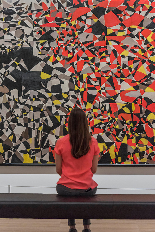 My Hell, 1951 - Princess Fahrelnissa Zeid: the UK's first retrospective of a pioneering artist best known for her large-scale colourful canvases, fusing European approaches to abstract art with Byzantine, Islamic and Persian influences. The exhibition is at Tate Modern from 13 June – 8 October 2017.