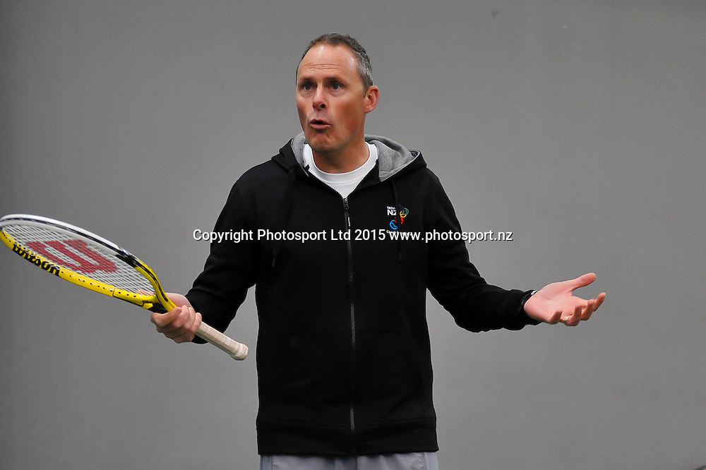 Coach Education Course being delivered at the Wilding Park Tennis Centre, Christchurch. 16th December 2015. Copyright Photo: John Davidson / www.photosport.nz