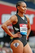 Imani-Lara Lansiquot of Great Britain, 100m Women Heat 1, during the Muller Anniversary Games 2019 at the London Stadium, London, England on 21 July 2019.