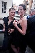 BEN ASHTON; FIONA GARDEN, New Symphoney.-  Simon Oldfield Gallery launch. First Floor, 9 Henrietta Street, WC2E.. -DO NOT ARCHIVE-© Copyright Photograph by Dafydd Jones. 248 Clapham Rd. London SW9 0PZ. Tel 0207 820 0771. www.dafjones.com.