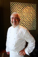 Chef Guy Savoy in his new restaurant