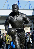 Football - 2019 / 2020 Premier League - Everton vs. Manchester United<br /> <br /> The club's memorial to Everton legend Dixie Dean, who died 40 years ago today during a derby match against rivals Liverpool, at Goodison Park.<br /> <br /> COLORSPORT/ALAN MARTIN