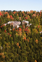 Scenic mountain views explode with color during fall in Blackwater Falls State Park. The Park located in the Allegheny Mountains of Tucker County, West Virginia, offers scenic beauty and plenty of outdoor recreation including hiking, biking, and cross country skiing..
