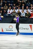 KELOWNA, BC - OCTOBER 25: Australian figure skater, Brendan Kerry, competes in the men's short program at Skate Canada International held at Prospera Place on October 25, 2019 in Kelowna, Canada. (Photo by Marissa Baecker/Shoot the Breeze)