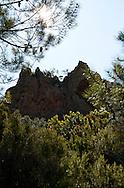 Massif de L'Esterel, côte d'azur, France