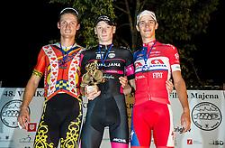 Aldo Ino Ilesic of Astellas Cycling Team, Ziga Rucigaj of Radenska AS and Gasper Katrasnik of Adria Mobil at Trophy ceremony after the cycling race Night Criterium - Kranj 2016, on July 30, 2016 in Kranj, Slovenia. Photo by Vid Ponikvar / Sportida