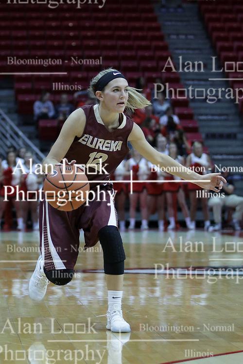 01 November 2017: Hayley Reneau during a Exhibition College Women's Basketball game between Illinois State University Redbirds the Red Devils of Eureka College at Redbird Arena in Normal Illinois.