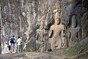 Ancient rock carvings at Buduruwagala.<br /> <br /> Buduruwagala is located 5km south of Wellawaya.<br /> <br /> The ancient rock carvings at Buduruwagala, close to Welawaya, date back to the 8th century.