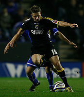 Photo: Steve Bond.<br /> Leicester City v Cardiff City. Coca Cola Championship. 26/11/2007. Stephen McPhail shields the ball