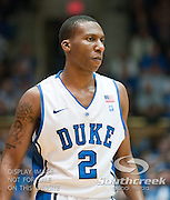 Duke Blue Devils guard Nolan Smith (2) heads to free throw line. Duke beats UNC 79-73 at Cameron Indoor Stadium Durham NC