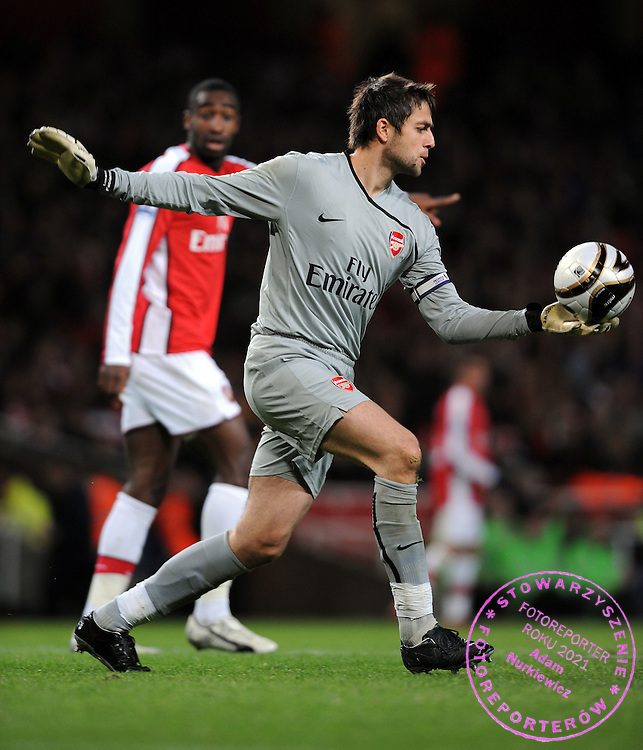 Lukasz Fabianski.Arsenal 2008/09 .Arsenal V Wigan Athletic (3-0) 11/11/08.The Carling Cup.Photo Robin Parker Fotosports International