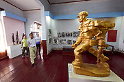 Laos, Vientiane. Lao National Museum. Communist revolution and fight for independence. Pathet Lao fighter statue.