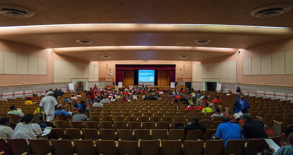 First 2012 bond community meeting at Yates High School, September 16, 2014.