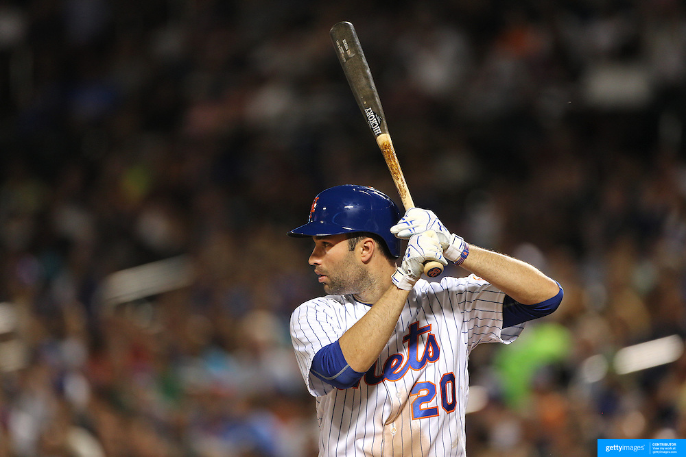 NEW YORK, NEW YORK - July 27: Neil Walker #20 of the New York Mets batting during the St. Louis Cardinals Vs New York Mets regular season MLB game at Citi Field on July 27, 2016 in New York City. (Photo by Tim Clayton/Corbis via Getty Images)