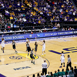 Mar 24, 2013; Baton Rouge, LA, USA; A general view in the first half of the first round of the 2013 NCAA womens basketball tournament game between the LSU Tigers and the Green Bay Phoenix  at the Pete Maravich Assembly Center.  Mandatory Credit: Derick E. Hingle-USA TODAY Sports