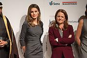 Letizia Ortiz and Montserrat Gomendio at Princess of Asturias at 4th Teaching Awards to education stakeholders