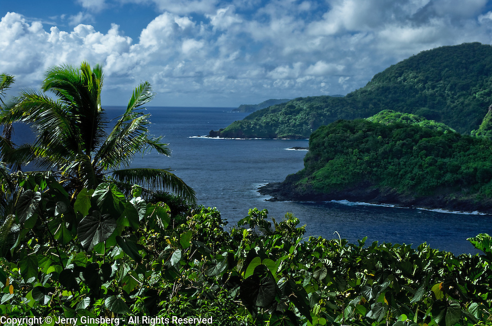 Scenic north coast of Tutuila Island, American Samoa.