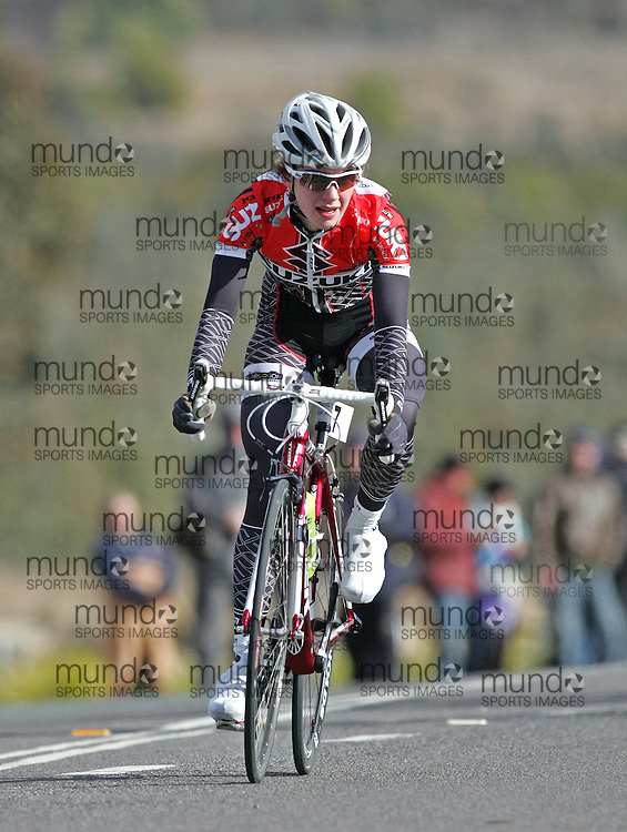 (10 Jul 2011---Canberra, Australia) Allison RICE competing in the Sunday morning road race in the DBR Australia 2011 Junior and Women's Canberra Tour at the Stromlo Forest Park circuit in Canberra, ACT. Copyright Sean Burges / Mundo Sport Images, 2011