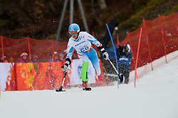 Thomas GROCHAR competing in the Alpine Skiing Super Combined Slalom at the 2014 Sochi Winter Paralympic Games, Russia