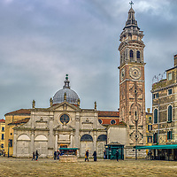North side of Santa Maria Formosa church, Castello sestiere, Venice, Italy.
