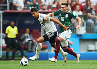 Football - 2018 FIFA World Cup - Group F: Germany vs. Mexico<br /> <br /> Sami Khedira of Germany vies with Hector Herrera of Mexico at Luzhniki Stadium, Moscow.<br /> <br /> COLORSPORT/IAN MACNICOL