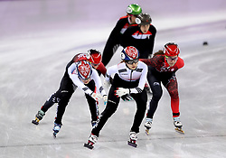 Republic of Korea's Minjeong Choi and Yubin Lee in the Women's 3000m Short Track relay heat one during day one of the PyeongChang 2018 Winter Olympic Games in South Korea.