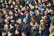 Leeds United fan in the stands during the EFL Sky Bet Championship match between Leeds United and Millwall at Elland Road, Leeds, England on 20 January 2018. Photo by Craig Zadoroznyj.